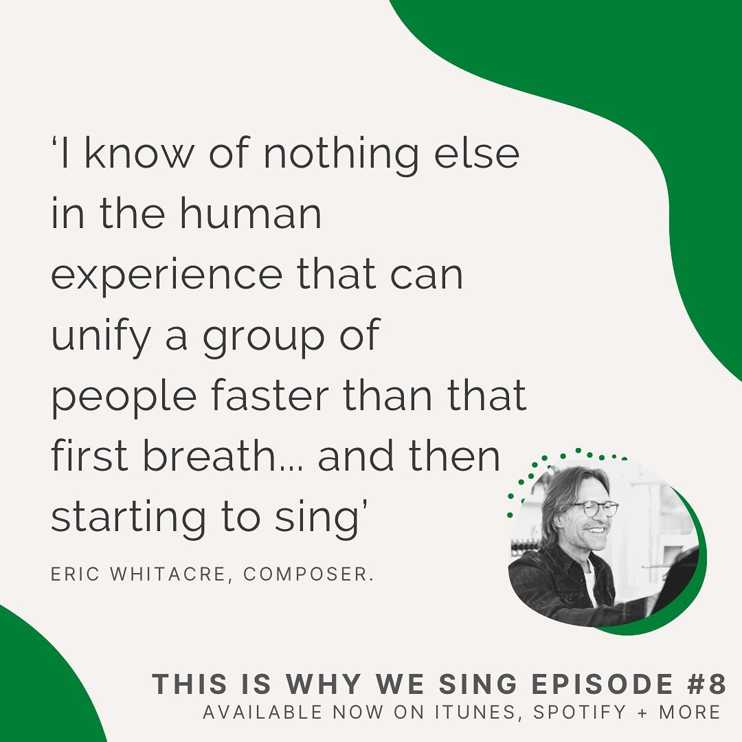 "Had a truly thoughtful and engaging conversation with James Sills for his terrific podcast ""This is Why We Sing."" The episode is now available on all streaming platforms."