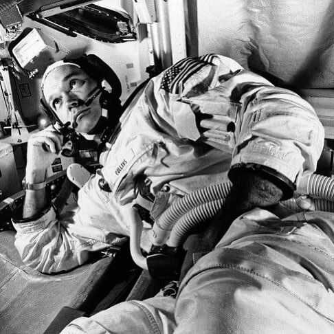 Astronaut Michael Collins died today at age 90. He was the man who piloted the Apollo 11 craft Colombia around the moon while Neil and Buzz explored the moon. Perhaps no human being has ever known what it is to be alone as much as this great man did.