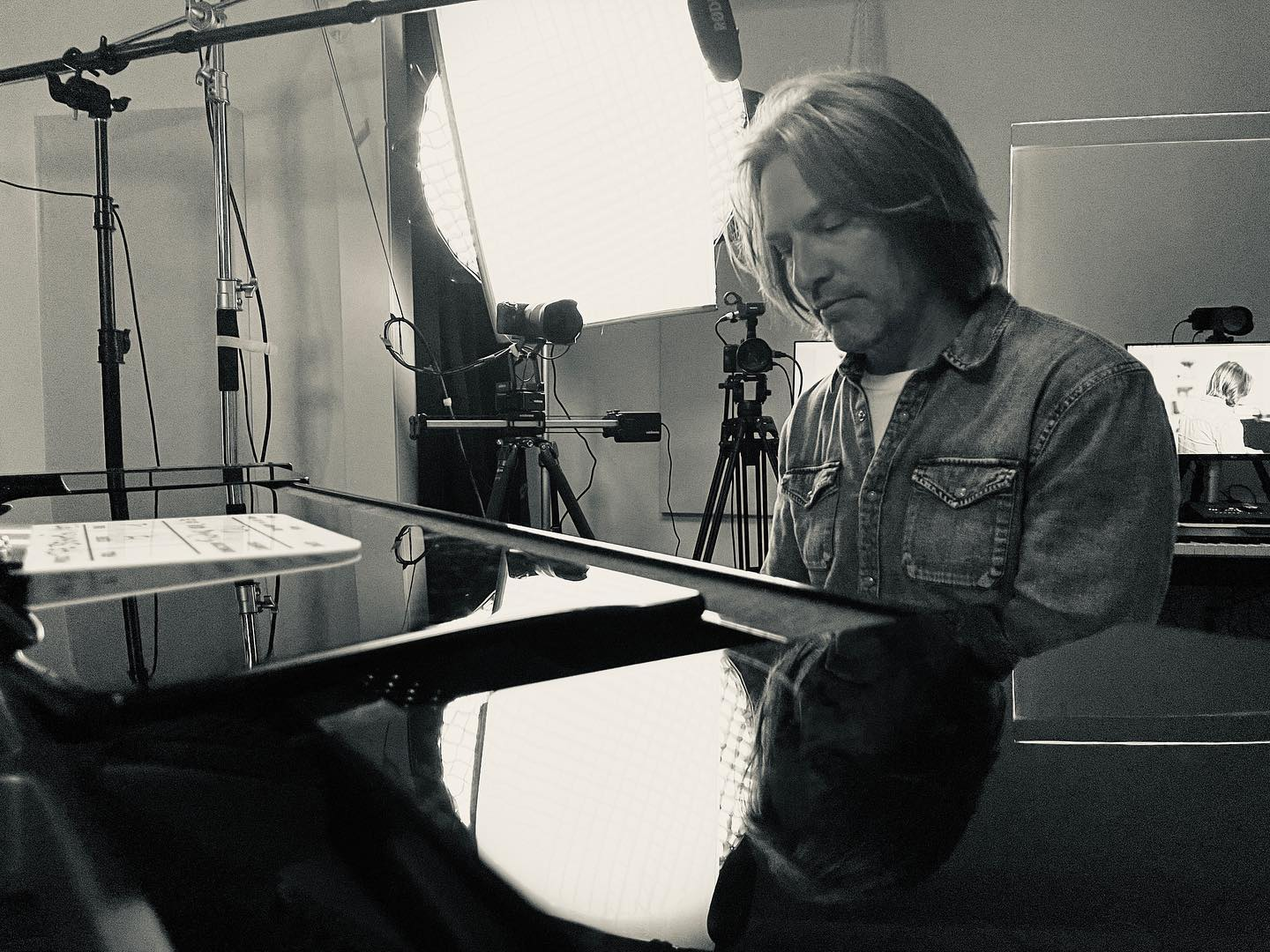 """I'm the studio every day filming my masterclass """"The Beautiful Mess: Lessons in Composition and Creativity."""" SO much to talk about. (My beautiful wife @laurence_servaes took this picture)."""
