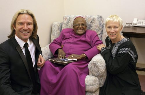Eric with Archbishop Desmond Tutu & Annie Lennox at the Templeton Prize Ceremony 2013