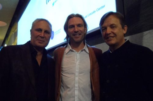 John Corigliano, Eric Whitacre and Chris Anderson at the VC3 Launch, Credit: Kerri Mason