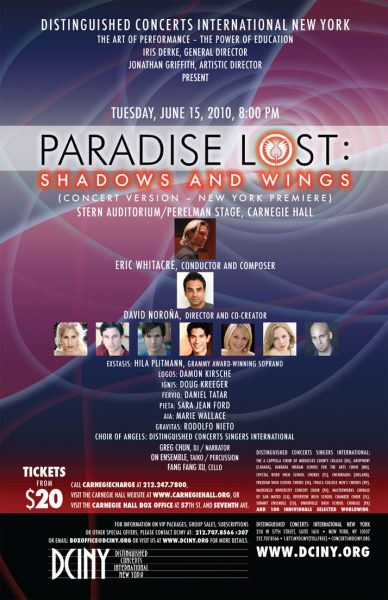 Paradise Lost, Carnegie Hall, 2010