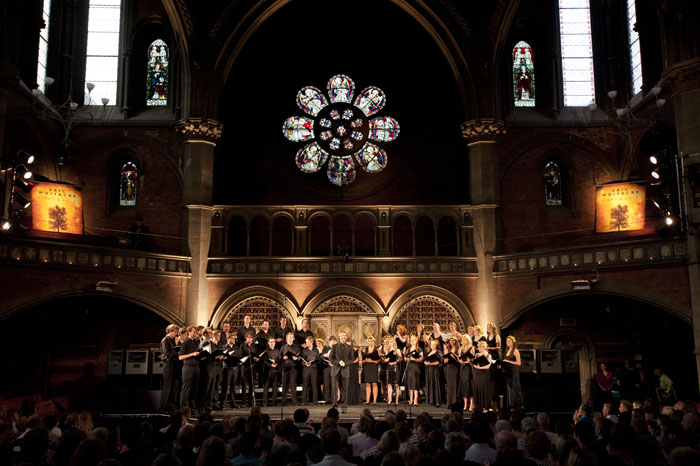 With Eric Whitacre at Union Chapel, Islington, London